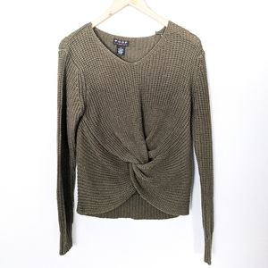 Poof! Knotted Crop Sweater